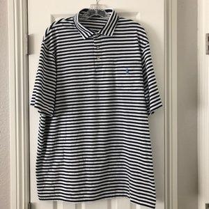 Polo Ralph Lauren Striped Blue White Shirt Size XL